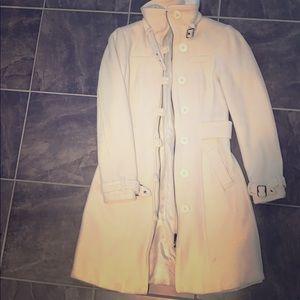 H&M creme wool blend coat